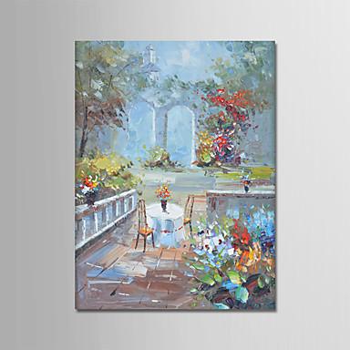 Hang-Malowane obraz olejny Ręcznie malowane - Krajobraz Nowoczesny Brezentowy / Zwijane płótno