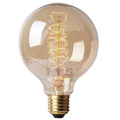 1 szt. 40 W E26 / E27 G125 Ciepła biel 2200-2700 k Retro / Przygaszanie / Dekoracyjna Żarówka Edisona w stylu vintage 220-240 V