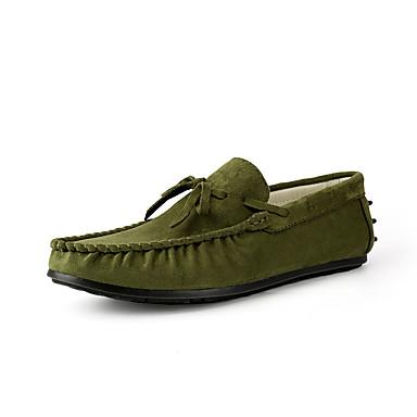 Męskie Buty Zamsz Wiosna Jesień Comfort Chodaki i klapki na Casual Gray Army Green Blue Brown Khaki