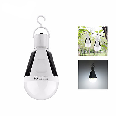 billige Lommelykter & campinglykter-12W Lanterner & Telt Lamper LED LED emittere 1 lys tilstand Bærbar Lettvekt Camping / Vandring / Grotte Udforskning Fisking Hvit
