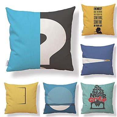 6 szt Tekstylny / Bawełna / pościel Pokrowiec na poduszkę, Art Deco / Unikalny wzór / Nowość Wysoka jakość