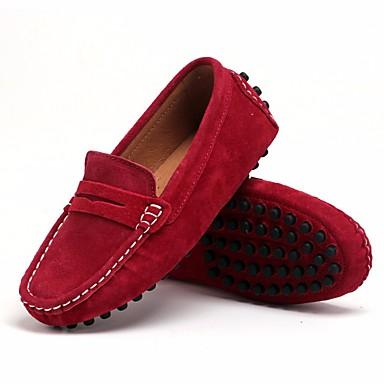 ieftine Pantofi de Copii-Băieți Pantofi Piele nubuc Primăvară Confortabili Mocasini & Balerini pentru Negru / Roșu Vin