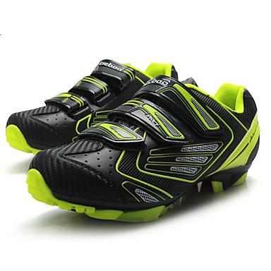 رخيصةأون أحذية ركوب الدراجة-Tiebao® Mountain Bike Shoes ألياف الكربون مكافح الانزلاق ركوب الدراجة أسود / أصفر رجالي أحذية الدراجة / هوك وحلقة