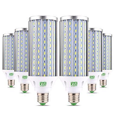 abordables Ampoules électriques-ywxlight® 6pcs e27 60w 5850-5950lm ampoule haute puissance 160 perles led 5730smd aluminium blanc chaud, blanc froid, naturel, lampe led, maïs, lumière ac 85-265v