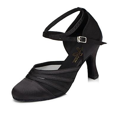 baratos Shall We® Sapatos de Dança-Mulheres Sapatos de Dança Sintético Sapatos de Dança Moderna Salto Salto Cubano Preto / Roxo / Ensaio / Prática / EU39