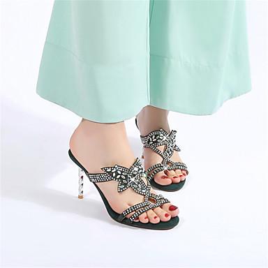 Vert Sandales Bout amp; Chaussures Confort 06654930 ouvert Aiguille Evénement Personnalisées Soirée Femme Matières Talon Eté Amande Noir fRBx66P