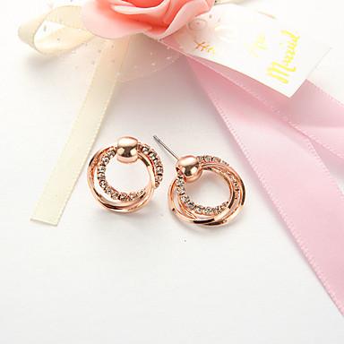 billige Moteøreringer-Øredobber Twist Circle damer Enkel Europeisk Mote øredobber Smykker Rose Gull Til Daglig