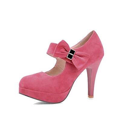 Mary Printemps Chaussures Basique Bout Rose 06665705 Talon Chaussures Similicuir Escarpin Aiguille à Beige Talons rond Jane Noeud Femme BtEYdwxwq