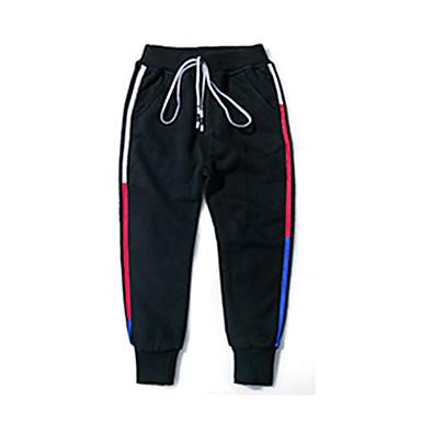 Dzieci Dla chłopców Podstawowy Solidne kolory Bawełna Spodnie