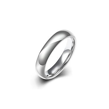 levne Dámské šperky-Band Ring Základní Cool inženýrství Fashion Ring Šperky Stříbrná Pro Svatební Denní Plesová maškaráda Zásnuby Maturitní ples Práce 8 / 9