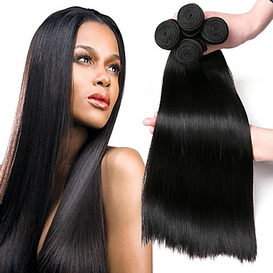 4 paketića Malezijska kosa Ravan kroj Ljudska kosa Ljudske kose plete Bundle kose Jedan Pack Solution 8-28 inch Prirodna boja Isprepliće ljudske kose Svilenkast proširenje Najbolja kvaliteta