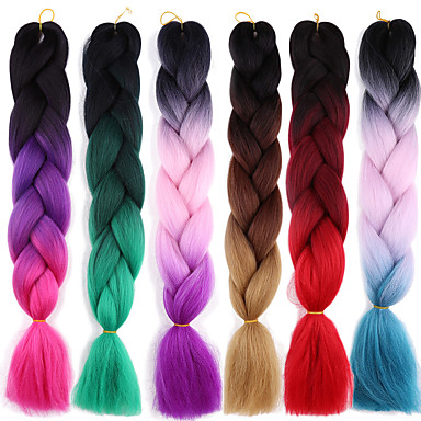 Braiding Hair Afro / Crochet Jumbo 100% kanekalon hair 2pcs / pack Hair Braids Long Ombre Braiding Hair