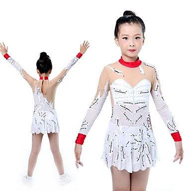 Dla dziewczynek Trykot gimnastyczny Długi rękaw Elastyczny / Chinlon / Rozciągliwa włóczka Taniec