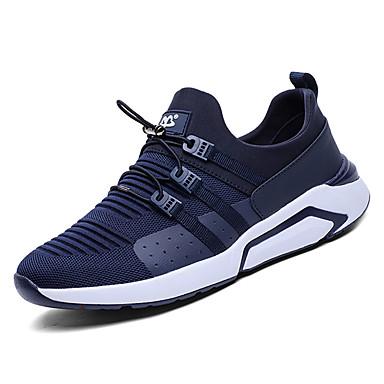 Men's Walking Rubber Summer Comfort Athletic Shoes Walking Men's Shoes Black / Blue 318619