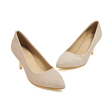 pointu 06679199 Chaussures Chaussures Talon Evénement Bout amp; Soirée Or Talons Paillettes Confort Argent Femme Aiguille à Printemps Paillette qfIvTTwA