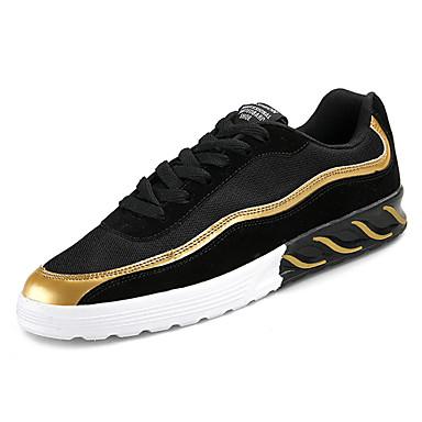 Męskie Komfortowe buty Tiul / PU Jesień Adidasy Wielokolorowa Czarny / Złoty / Czerwony / Czarny biały