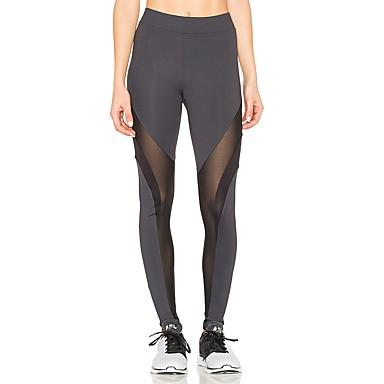 Pentru femei Pantaloni de yoga Sport Multicolor Dresuri Ciclism Alergat, Fitness, Sală de Fitness Îmbrăcăminte de Sport  Uscare rapidă, Respirabil Înaltă Elasticitate