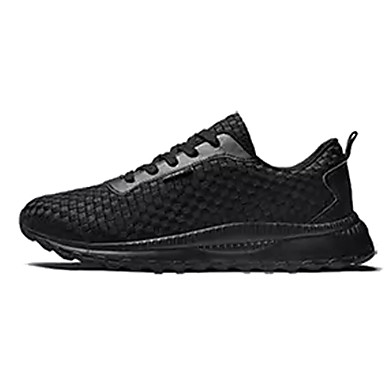 Men's Fabric / PU(Polyurethane) Fall Comfort Athletic Shoes Black Running Shoes White / Black Shoes d7b1ef