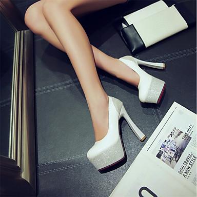Rouge Bout été Chaussures Chaussures Aiguille Talons Printemps Basique Noir rond à Escarpin Talon Similicuir Femme 06674290 Blanc FRZqxgw