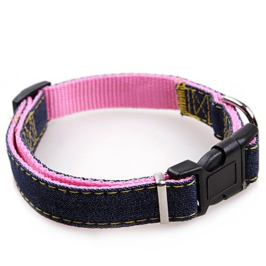 Psy / Koty Obroże Chodzenie / Korygujący / Wysuwany / Szkolenie Jendolity kolor Materiał Czerwony / Niebieski / Różowy