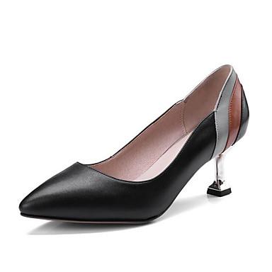 Talon Soirée Beige Evénement Chaussures Bout Noir Talons Cuir Basique Femme Chaussures Automne Aiguille amp; pointu Escarpin Nappa 06686419 à 6TwZzfq