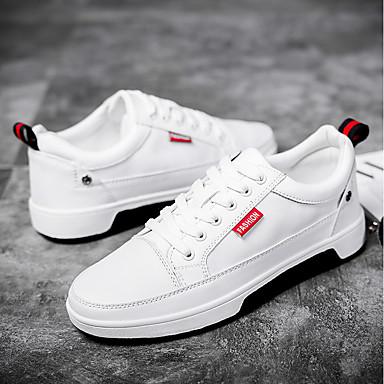 beabc03b0 رجالي أحذية الراحة PU الصيف أحذية رياضية أبيض / أسود / الأماكن المفتوحة