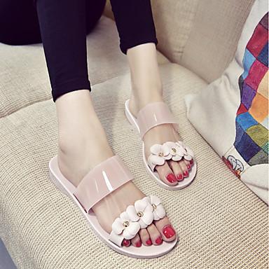 Rosa Mujer Confort Negro 06694557 Zapatos flip Verano Plano Zapatillas y PU flops Tacón FrPRwOqFxf