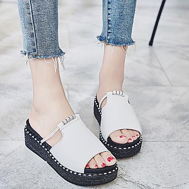 Cuir Chaussures Blanc Rose Confort Rouge Creepers Printemps été Femme 06716776 Sandales 4x5gFOwZwq