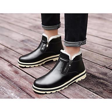 Muškarci Cipele PU Zima Čizme za snijeg Čizme Crn / Sive boje / Braon