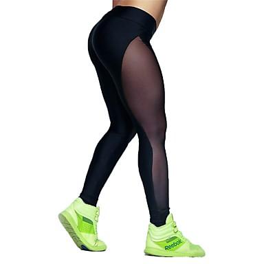 Pentru femei Pantaloni de yoga Sport Multicolor Dresuri Ciclism Alergat, Fitness, Sală de Fitness Îmbrăcăminte de Sport  Respirabil, Uscare rapidă Înaltă Elasticitate