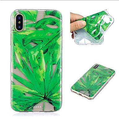 Kılıf Na Apple iPhone X / iPhone 8 Plus Przezroczyste / Wzór Czarne etui Rośliny Miękkie TPU na iPhone X / iPhone 8 Plus / iPhone 8
