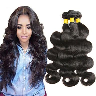 3 개 묶음 말레시아인 헤어 직진 8A 미처리 인모 인간의 머리 직조 자연 색상 인간의 머리 되죠 최고의 품질 뜨거운 판매 인간의 머리카락 확장 여성용