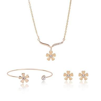Pentru femei Diamant sintetic Set bijuterii - Vintage, Modă Include Auriu Pentru Stradă / Ieșire / Σκουλαρίκια