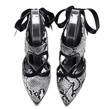 amp; Soirée Mariage Sandales Similicuir Noir Confort Chaussures Evénement pointu Femme 06701844 Bout Aiguille été Talon Printemps Blanc w67OPwqxfX