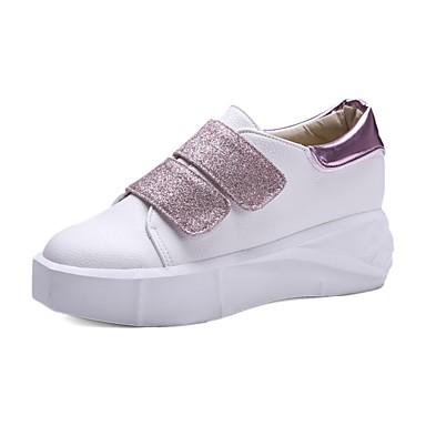 Talon Rose 06695425 Confort rond Noir Similicuir Basket été Chaussures Printemps Plat Femme Bout Blanc Marche 0qfIOx6qw