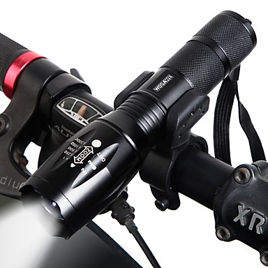 Dual LED Bike Light LED Flashlights / Torch Front Bike Light Headlight Cycling Portable Adjustable Quick Release 18650 1000 lm Chargeable 18650 lithium battery White Camping / Hiking / Caving Cycling