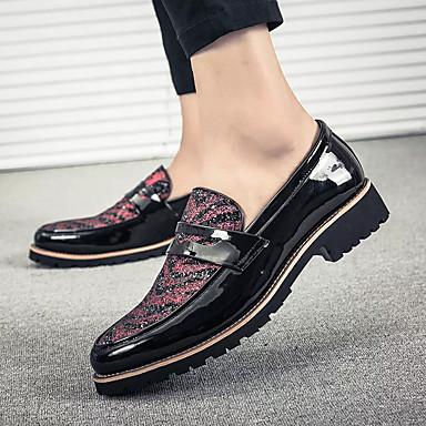 Nouveauté Confort Printemps Faux Cuir Chaussures Rouge De Homme qYPAE6x