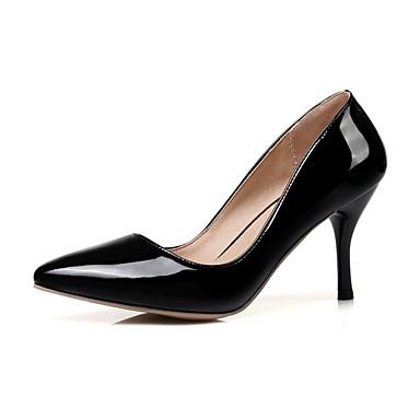 Pentru femei Pantofi Imitație Piele / Piele Originală Primavara vara Balerini Basic Tocuri Plimbare Toc Stilat Vârf ascuțit Rosu / Roz /
