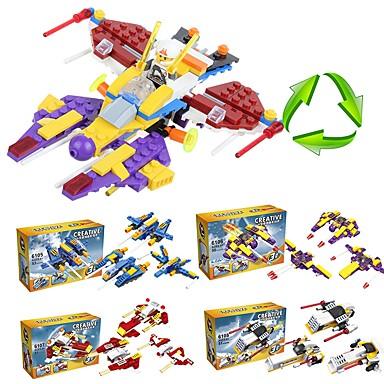 Klocki 205 pcs Myśliwiec Szkoła Przeciwe stresowi i niepokojom Zabawki dekompresyjne Rakieta i statek kosmiczny Dla chłopców Dla dziewczynek Zabawki Prezent