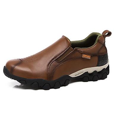Męskie Komfortowe buty Skóra bydlęca Wiosna i jesień Mokasyny i buty wsuwane Jasnobrązowy / Ciemnobrązowy / Khaki / Na zewnątrz