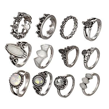 billige Motering-Dame Ring Set / Midiringe / Stable Ringer Opal Sølv Legering damer / Uvanlig / Unikt design Nyttår / Valentine Kostyme smykker