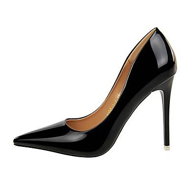 06710377 Noir Evénement amp; Femme Chaussures Cuir Verni Argent Automne à Basique Talon Soirée Escarpin Talons Or Chaussures Aiguille xHS4xT