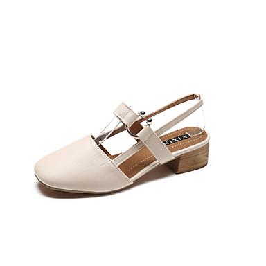 06686912 Printemps Soirée amp; été Beige Cuir Talon Amande Chaussures Bottier Sandales Femme Evénement Confort wqFgOW