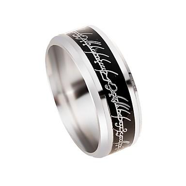 voordelige Heren Ring-Bandring Bal Vakantie Rock Modieuze ringen Sieraden Zilver Voor Professioneel Club 8 / 9 / 10 / 11