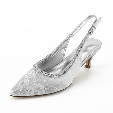 Confort Eté Escarpin Dentelle pointu Heel Basique Strass Cheville de de Chaussures mariage Bout 06680709 Chaussures Femme Kitten Bride qw4AC5xtnE