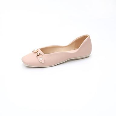 Pentru femei Pantofi PU Primăvară Confortabili Pantofi Flați Toc Drept Bej / Roz