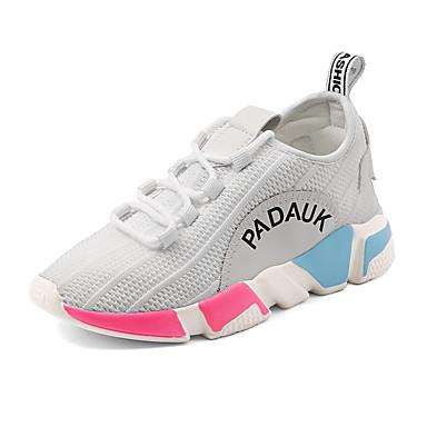 Pentru femei Pantofi PU Primavara vara Confortabili Adidași de Atletism Alergare / Plimbare Toc Drept Alb / Negru