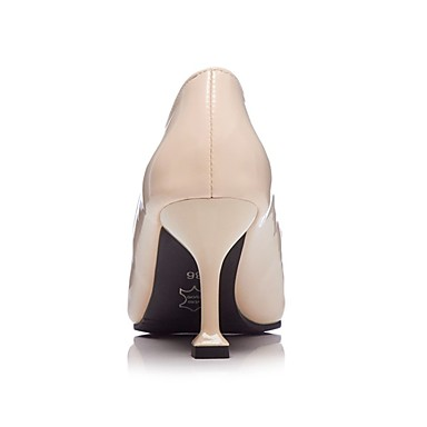 été à pointu Chaussures Talon Escarpin Polyuréthane Talons Basique Aiguille Chaussures 06700563 Marche Femme Beige Printemps Bout Noir ROtxqF0n0w
