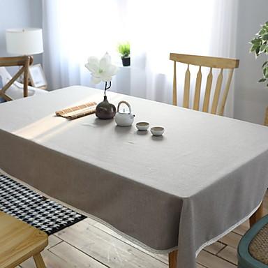 Nowoczesny Polichlorek winylu / Bawełna Kwadrat Obrus Solidne kolory Dekoracje stołowe 1 pcs