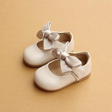 Fete Pantofi PU Primăvară Confortabili / Primii Pași Pantofi Flați pentru Bej / Verde / Roz